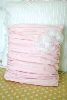 DIY Ruched Pillow - The Girl Creative