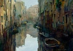 "Stan Miller   WATERCOLOR           ""Venice Calm"" by marion"