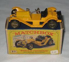 Lesney Matchbox Car Models of Yesteryear Y7 1913 Mercer Raceabout w/ Box HR40