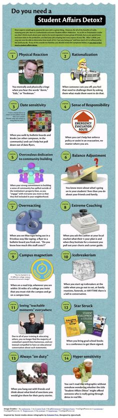 Educational infographic & data visualisation Do You Need a Student Affairs Detox? Infographic Description Do You Need a Student Affairs Detox? Online College Degrees, Residence Life, Resident Assistant, Res Life, Do You Need, Student Life, College Life, Higher Education, College Students