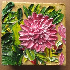 Impasto painting Pink Dahlia  Check out this and my other paintings at my Etsy Store: http://www.etsy.com/shop/KulArt?ref=ss_profile Please come back again, I add more stuff practically daily.