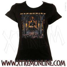 Camiseta de chica de #Hypocrisy - A taste of extreme divinity ¡Echa un vistazo a nuestra colección de ropa heavy! Artículos en stock. Envíos inmediatos. Camisetas de Grupos de Metal.
