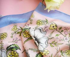 "Katie Craven on Instagram: ""A little hint that Spring is on it's way....🌸🏵🌱🌼 #KatieCraven #silkscarf #springgarden"" Scarf Design, Spring Garden, Silk Scarves, Fashion Brand, Instagram, Fashion Branding"