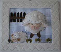 Enfeite de porta ovelha - Ateliê Jussara Flois