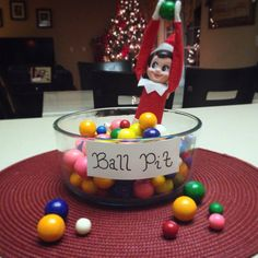 Elf on the shelf ball pit