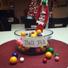 Elf on the shelf ball pit