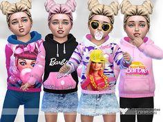 The Sims 4 by Kasia: Bluza Barbie od Pinkzombiecupcakes