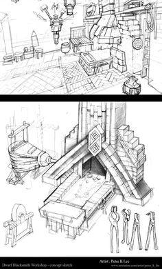 ArtStation - Dwarf Blacksmith Workshop v1.0, Peter Kyuyoung Lee
