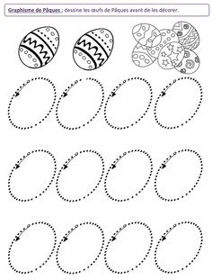 Tracing Worksheets, Preschool Learning, Kindergarten Worksheets, Preschool Activities, Teaching Kids, Diy And Crafts, Crafts For Kids, Easter Activities For Kids, Projects For Kids
