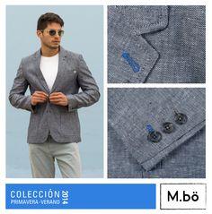 Empieza la semana con estilo. Blazer de lino 2 botones con bolsillos y pechera parche Cod. OMSB0009. #Mbolifestyle #blazer #jacket