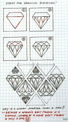 Diamonds zentangle