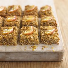 Vegan flapjack (Apple and Cinnamon) http://www.vegetarianliving.co.uk/recipes.php?do=view&recipe=70