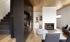 built in wood heater - Google Search
