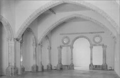 Patio del palacio del embajador Vich, 1521 Valencia. Desmontado y luego instalado temporalmente en el Museo del Carmen (Valencia).