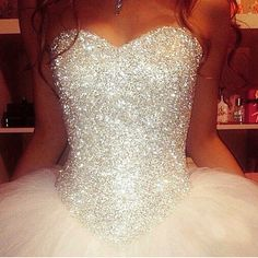 Disney princess wedding gowns awesome i don t know if this is a wedding dress or a prom dress but i m in Princess Wedding Dresses, Dream Wedding Dresses, Wedding Gowns, Diamond Wedding Dress, Wedding Dresses With Bling, Tulle Wedding, Wedding Dress Sparkle, Poofy Wedding Dress, Glitter Wedding