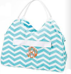 Large Chevron Beach Bag by adstorey on Etsy, $23.95