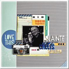 September 2013 HIP KIT layout created by our DT member, Bethany Crowell. To purchase our HIP KITS or to join our HIP KIT CLUB to have a brand  new HIP KIT delivered right to your door each month - visit our website & online store at WWW.HIPKITCLUB.COM .  Enjoy! Hip Kit Club, September 2013, Scrapbooking Layouts, Cheers, Layering, Join, Website, Store, Travel