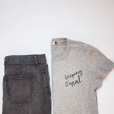 Keeping it real (and simple) with this ethically made organic cotton tee.