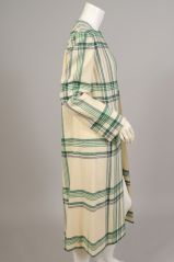 Pauline Trigere Blanket Plaid Coat at 1stdibs