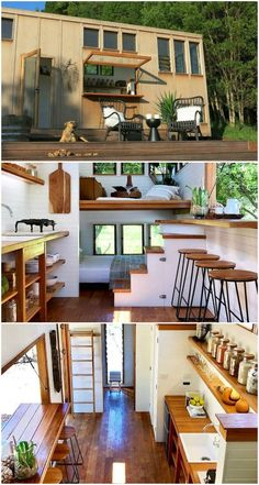 15 amazing tiny houses you can rent on Airbnb Tiny House Loft, Modern Tiny House, Tiny House Living, Small House Design, Tiny House Plans, Tiny House On Wheels, Tiny Houses, Houses Houses, Best Tiny House