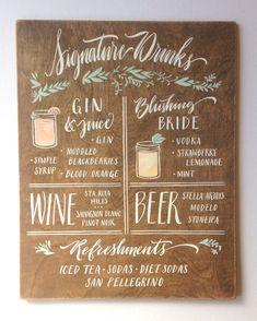 11 x 14 mariage signe Singnature boissons : bière par papertangent