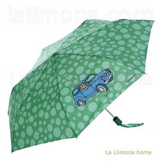 Paraguas kukuxumusu mujer plegable automático verde coche