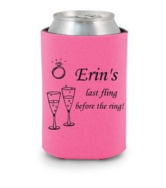 Bachelorette party personalized koozies, Last fling before the ring #Bachelorette #koozie http://www.expressimprint.com/LiveArt?category_id=1product_id=4