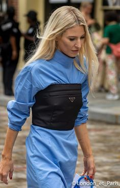 corset street style Michael Kors Street Style New York Fashion Week NYFW High Street Fashion, Street Style Edgy, Street Style Summer, Street Chic, Sport Street Style, New York Fashion, Fashion Week, Love Fashion, Fashion Outfits