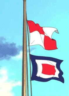 From up on poppy hill : If I ever have a house by a sea or lake I will totally put these flags up everyday