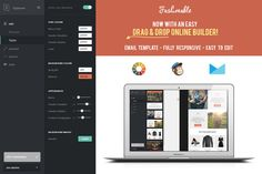Fashionable Responsive Email Builder by DIGITAVERN on Creative Market