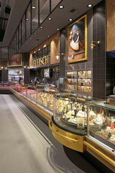 Bakery Shop Design, Shoe Store Design, Food Court Design, Protein Shop, Cool Retail, Shop Fittings, Restaurant Interior Design, Shop Interiors, Cafe Restaurant