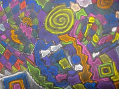 Experiments in Art Education: Abstract Chalk Drawings