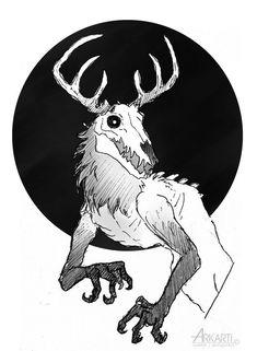 Creepy Drawings, Dark Drawings, Fantasy Kunst, Dark Fantasy Art, Arte Horror, Horror Art, Creature Drawings, Animal Drawings, Dessin Old School