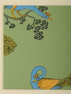 Peacock Hand-Painted Pattachitra Phad Painting, Mural Painting, Fabric Painting, Pichwai Paintings, Indian Art Paintings, Madhubani Art, Madhubani Painting, Diy Wall Art, Framed Wall Art
