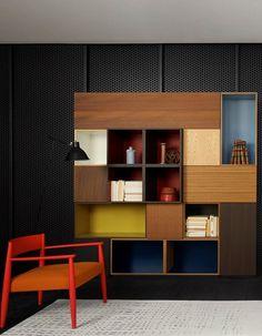 Home Decor Ideas. Livingroom Library. Mobili lineari per la zona giorno. Libreria. Soggiorno.