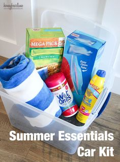 summer essentials car kit #ad