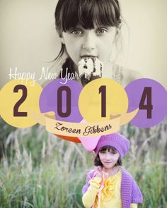 Personalized 2014 New Year cards. #cards #newyear #2014