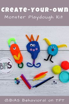 Expand creative play with this Create-Your-Own Monster Kit FREE printable. Assemble the items and distribute them as a party favor or use as an independent activity for kids of all ages. This download contains an instruction card (for parents), bag label, and a supply list.