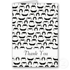 Mustaches thank you Card