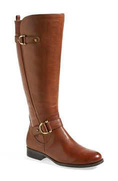 Free shipping and returns on Naturalizer 'Jersey' Leather Riding Boot (Women) at Nordstrom.com. Antiqued hardware trims the belted shaft of a lightly textured leather riding boot that's built with signature N5 technology for lasting comfort. An angled elastic inset down the side and an elastic panel at the calf perfect the fit.