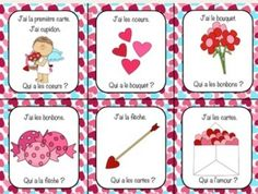 French Valentine's Day J'ai... Qui a? class game/activity to practise Valentine's Day vocabulary (Saint-Valentin)