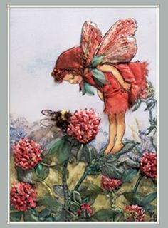 Flower Faries - The Red Clover Fairy the-herb-garden