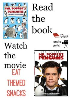 Popper's Penguins is the cutest book you will ever read, and there are so many great snacks, activities, and things to talk about from the book. Penguin Day, Penguin Books, Club Penguin, Reading Activities, Teaching Reading, Teaching Ideas, Mr Popper's Penguins, Kids Book Club