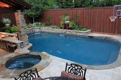 Estimate the quantity of concrete decking you'd like around the pool. A pool is the best backyard amenity. A little swimming pool is a good idea if we've limited space but still want to… Building A Swimming Pool, Small Swimming Pools, Swimming Pools Backyard, Swimming Pool Designs, Backyard Pool Landscaping, Backyard Pool Designs, Small Backyard Landscaping, Landscaping Ideas, Backyard Ideas