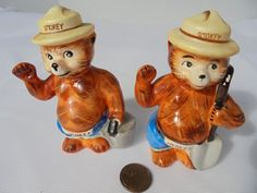 They say Smokey on the hat and belt. Never been used. Both still have Norcrest fine china, Japan. I take several pictures so all details are there for you to see. I do not try to hide or cover up anything. | eBay!