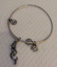 Authentic Alex & Ani Mermaid Russian Silver Expandable Bangle - http://designerjewelrygalleria.com/alex-ani/authentic-alex-ani-mermaid-russian-silver-expandable-bangle/