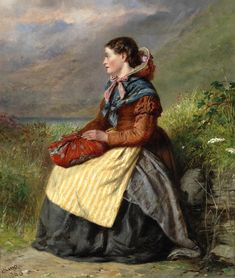 """""""Awaiting his Return (British) Haynes King - 1865 Painting - oil on canvas Height: 30.48 cm (12 in.), Width: 24.77 cm (9.75 in.) Private collection"""""""