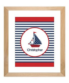 This playfully colored print brings sweet, personalized style to a nursery, bedroom or play area. With crisp, high-quality ink and premium matte paper, it's guaranteed to add a unique touch to any wall. Art Wall Kids, Art For Kids, Personalized Wall Art, Set Sail, Chicago Cubs Logo, Sailing, Personal Style, Art Gallery, Nursery