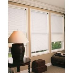 Lewis Durable Anti Static Radiance White Vinyl Mini Blind with 1-inch Slats (48x64), Size 48 x 64 (PVC)