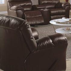 Palliser Furniture Durant Rocker Recliner Type: Bonded Leather - Champion Alabaster, Upholstery: Leather/PVC Match - Tulsa II Sand